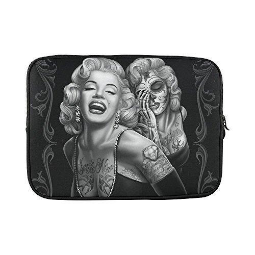 SLsenD-Custom-Beautiful-Smile-Girl-Skull-Water-Resistant-Computer-Bag-Laptop-Sleeve-Notebook-Case-Cover