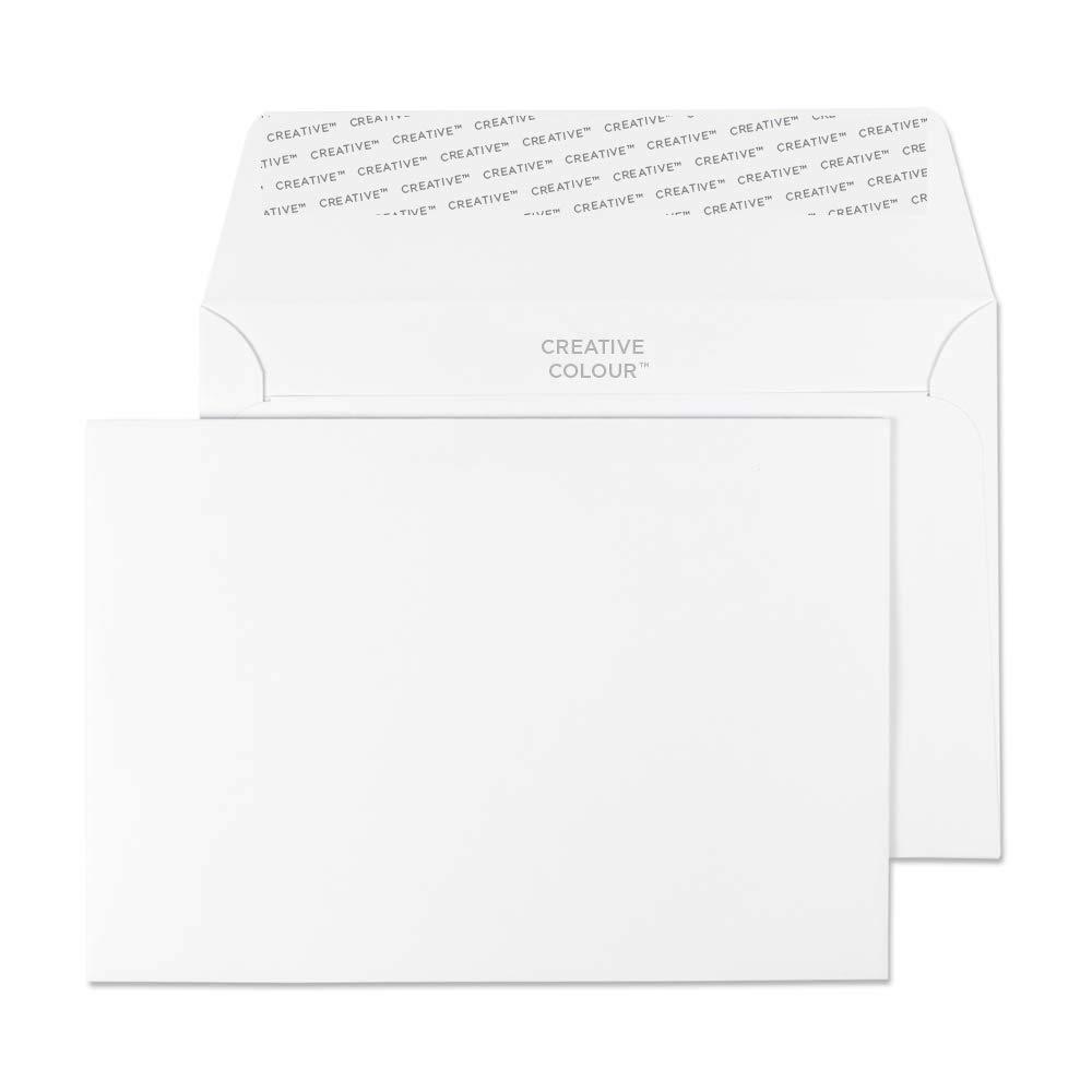Blake Creative Color Invitation Envelopes, 4 1/2 x 6 3/8, Ice White, Peel & Seal (150-76) - Pack of 500 4 1/2 x 6 3/8 Blake Envelopes office