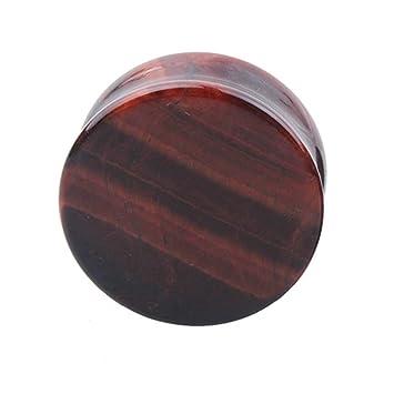 TENDYCOCO Dilatador de Oreja Expansor de Túnel Plugs de Piedra de Tigre Rojo Pendientes Piercing Joyas Expansores Oreja 1 Pieza 12 mm: Amazon.es: Hogar