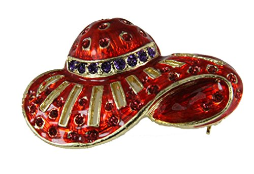 Jewelry Pins Hat Red (Red Hat Society 6030014 Ladies Club Pin Brooche Clothes Clothing Redhat)