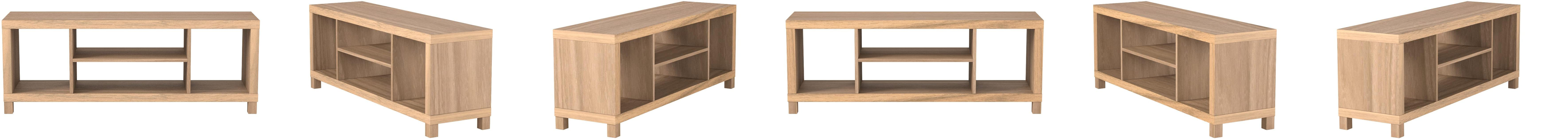 Black Cross Mill TV Stand15.67 x 47.80 x 19.60 Inches Generic