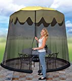 WALLER PAA Umbrella Table Screen Insect Net Outdoor Cover...