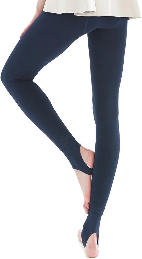 La Dearchuu Fleece Lined Leggings Petite Women Thermal Leggings Winter Warm Opaque Stirrup Tights Size 0-6//2-8
