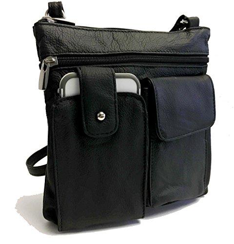 Cowhide Leather Crossbody Mini Purse Organizer Travel (Cowhide Leather Cross Body)