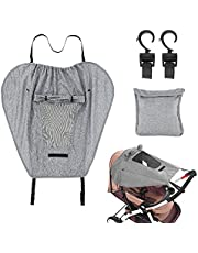 Sun Shade for Strollers, Universal Windproof Waterproof Stroller Sunshade Cover Baby Stroller Awning Pram Sunshade Cover, Anti-UV 50+ with Viewing Window for Stroller