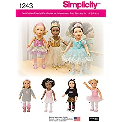 Simplicity Creative Patterns 1243 Ballerina and Dance Clothes for 18-Inch Doll, Size: Os One Size