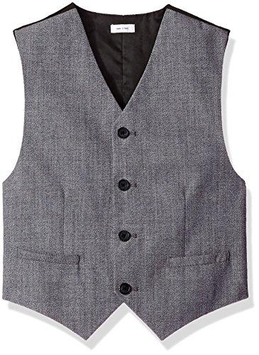 Calvin Klein Big Boys Twist On Twist Vest, Black, Large