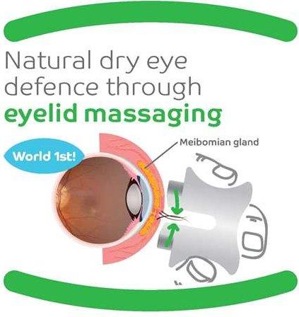 Párpado eyepeace- masajeador para ojos en seco, meibomian glándula Disfunción, sensible delanteros, blefaritis, uso como parte de calor y masaje.
