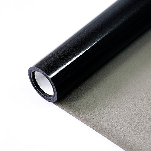fancy-fix Darkening Privacy Window Film Sun Blocking Dark Non-adhesive Frosted Black Static Cling Glass Films(17.7inx78.7in)