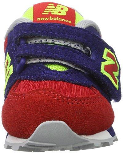 New Balance Kv574wii M Hook and Loop, Zapatillas Unisex Niños Multicolor (Navy/red)