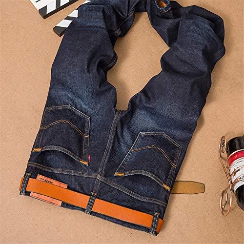 Et Haute Noir Velvet Jeans Coupe Automne Pour 29 De Noir Xuanbao Hommes couleur Plus Winter Homme Taille Hiver Loisir 7xqzxwnag