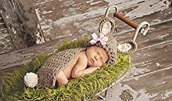 AngelMommyPatten® ORIGINAL DESIGNER Handmade Cute Unisex Baby Boy or Girl Rabbit Bunny Diaper Cover Set - Newborn Photography Prop, Newborn, Baby Shower Gift More Colors Easter Set #PP035
