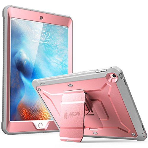 (SUPCASE iPad 9.7 Case 2018/2017, Heavy Duty [Unicorn Beetle PRO Series] Full-Body Rugged Protective Case with Built-in Screen Protector & Dual Layer for Apple iPad 9.7 inch 2017/2018(Rosegold))