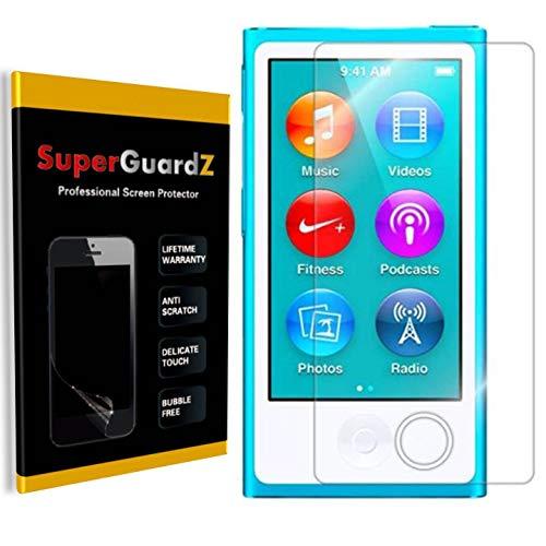 [8-Pack] for iPod Nano 7 (7th Gen) Screen Protector, SuperGuardZ, Ultra Clear, Anti-Scratch, Anti-Bubble [Lifetime Replacement] (Ipod Nano Stylus)