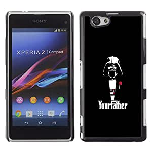 LECELL--Funda protectora / Cubierta / Piel For Xperia Z1 Compact D5503 -- Yourfather Estrella Guerra Darth Vade --