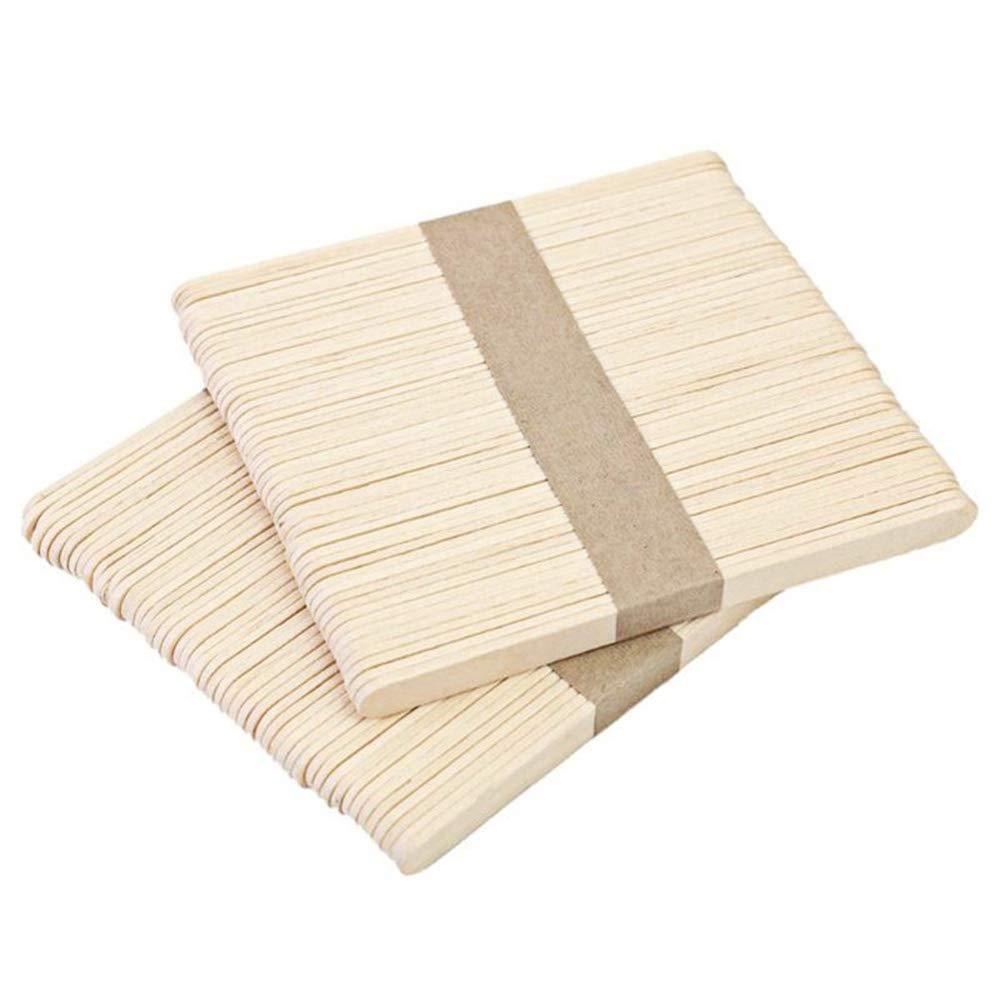 VEIREN - 200 palos de helado de madera, palo de palillo de palo ...