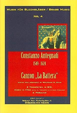Canzon la battera: para: Antegnati, Costanzo: Amazon.es ...