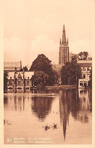 Het Minnewater Bruges Belgium, Belgique, Belgie, Belgien Postcard