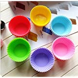 12 Pcs Chic Silicone Cake Muffin Chocolate Cupcake Liner Baking Cup Cookie Mold