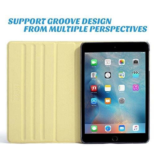 iPad Mini 3 Case,iPad Mini Case,ULAK Ultra Slim 360 Rotating Smart Stand Case Cover for Apple iPad Mini 1/ iPad Mini 2/ iPad Mini 3 with Sleep/Wake Feature (Champagne Gold) Photo #3