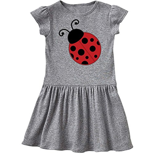 inktastic - Ladybug Toddler Dress 3T Heather Grey 1d76e