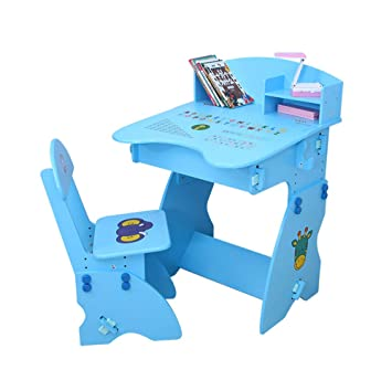 Amazon.com: Silla de escritorio infantil de madera, altura ...