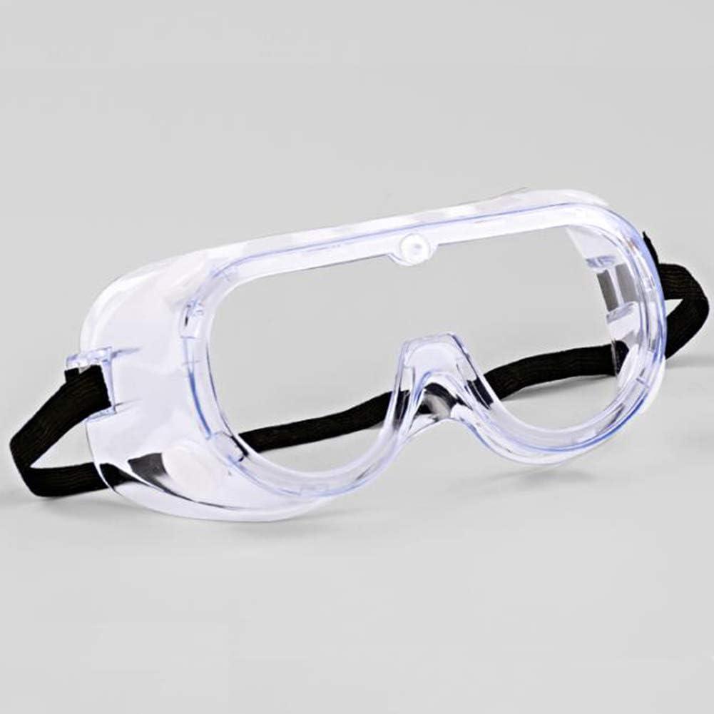 LNX Gafas de Seguridad Ventilación indirecta Médico Gafas de protección Anti Niebla Prueba de Polvo Anti rasguños Resistente al Viento Anti UV - Transparente con Tapa Lateral Protección para los Ojos