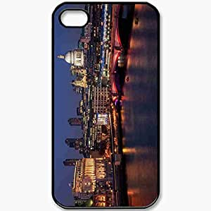 Protective Case Back Cover For iPhone 4 4S Case St Paul 39 S Cathedral St Paul 39 S Cathedral Southwark Bridge London London England Black