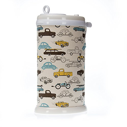 Sweet Potato Traffic Jam Ubbi Diaper Pail Cover