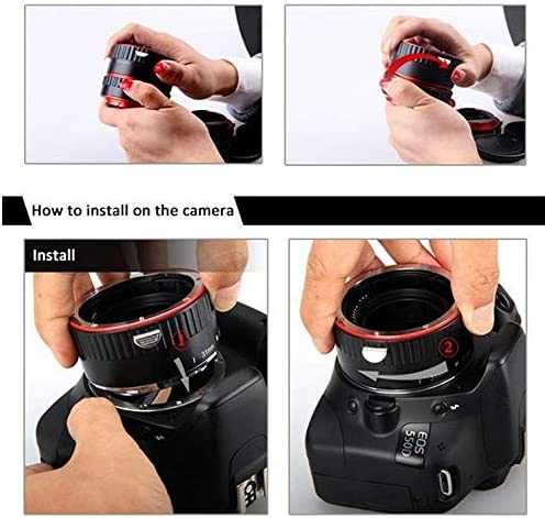 OUYAWEI Top Metal Mount Lens Adapter Auto Focus AF ro Extension Tube Ring for Canon EOS EF-S Lens 750D 80D 7D T6s 60D 7D 550D 5D Mark IV Silver