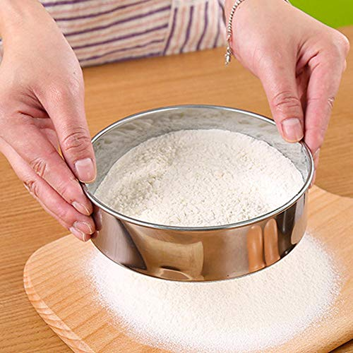 Ruluti Acero 1PC 15Cm Harina De Malla De Acero Tamizar La Harina para Hornear Herramientas Tamiz Tamiz De Az/úCar En Polvo Cocina Pastel Horneado Accesorios