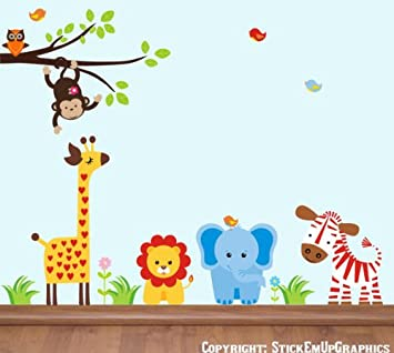 Delicieux Baby Nursery Wall Decals Safari Jungle Childrens Themed 60u0026quot; X 86u0026quot;  (Inches)