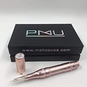 M PMU Permanent Make Up Wireless/Cordless Tattoo Machine - Ombre Powder Brows Miroblading Shading Eyeliner Lip Microshading Tattoo Permanent Make Up (Pink)