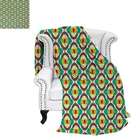 Amazon.com: Throw Blanket Groovy Bauhaus Design Art Motifs ...