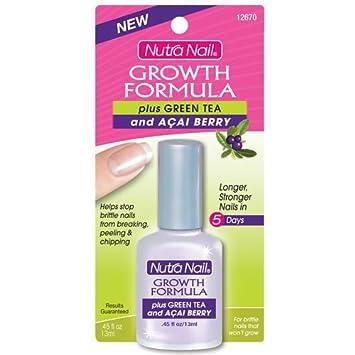 Amazon.com : Nutra Nail Growth Formula Plus Green Tea and Acai ...