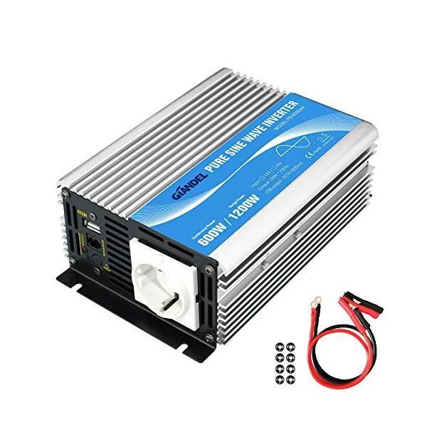 51ACAs5oB%2BL 600W Wechselrichter Reiner Sinus Spannungswandler 12V auf 230V Power Inverter mit Fernbedienung und USB-Anschluss für…