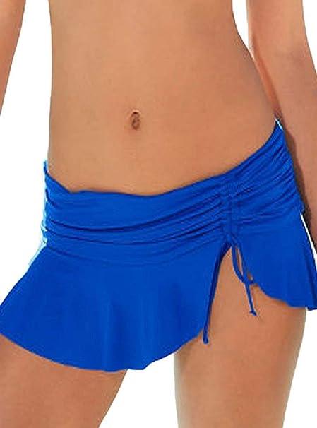 Mini Falda De Las Señoras Nadar Bikini Falda De Tamaños Cómodos ...