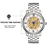 Men's Waterproof Hollow Mechanical Gold Movement Wristwatch - Luxury Rhinestone Gift Watch with Hidden Clasp