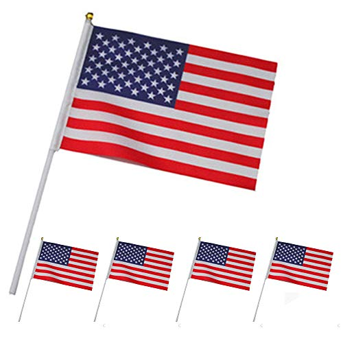 - Gotian 5Pcs American Flag Hand Wave Flags, Durable for Indoor and Outdoor use, This Union Flag is Perfect for Any Occasion, Show Everyone Your United States Pride by Flying The Flag Today!