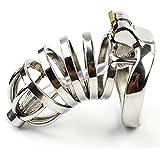 YiFeng Stainless Steel Male Chastity Cage Device Belt Urethral Tube Bondage Fetish ZCS151 (50mm Ring)
