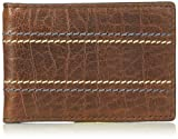 Fossil Men's Reese Leather RFID Blocking Money Clip Bifold Wallet