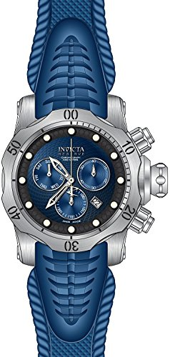 Invicta 13851 Mens Reserve Venom Diver Stainless Steel Case Rubber Bracelet Black Carbon Fiber Dial Day and Date Displays -  I-19011-Z