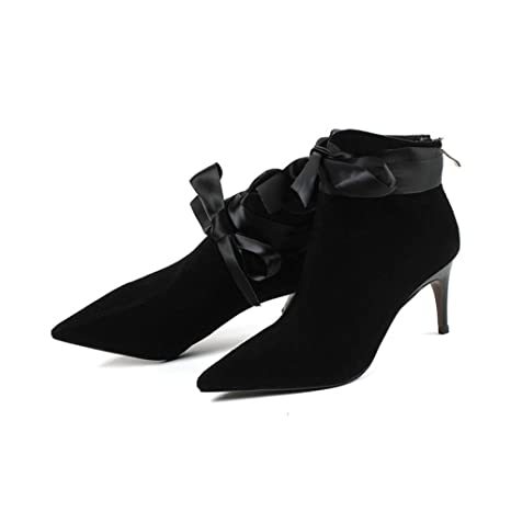7eb8a59e PDGPZMDX Botines Botas Botas De Mujer Botines Cintas De Bowtie Zapatos De  Fiesta De Boda Tacones