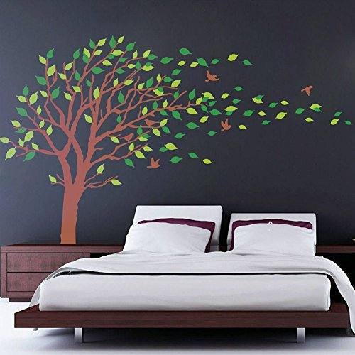 brown tree decal - 2