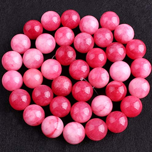 Calvas 6,8,10,12mm Smooth Round Beads Ball Red Candy Jades Stone Beads for Necklace Bracelets Earring Jewelry Making 15