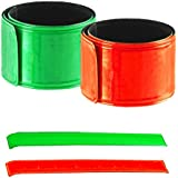 2pc Super-Reflective Snap Bracelets Pant Cuff - Auto Roll-Up