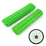 Kyпить JFG RACING 72 Pcs Green Motorcycle Spoke Covers Guards For 19