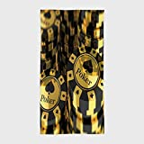 Cotton Microfiber Hotel SPA Beach Pool Bath Hand Towel,Poker Tournament Decorations,Gold and Black Poker Chips Gambling Club Currency Stack Wager Decorative,Gold Black,for Kids, Teens, and Adults