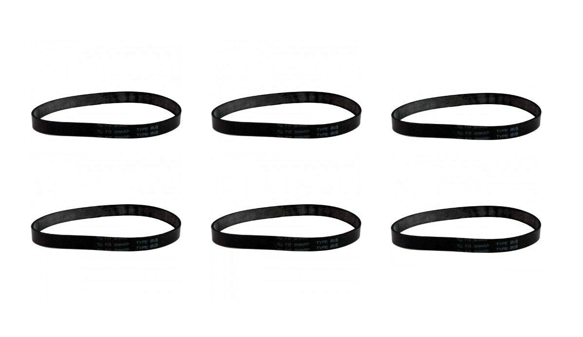 (6) Sharp Vacuum Belts for Model EC14TX6 - NEW