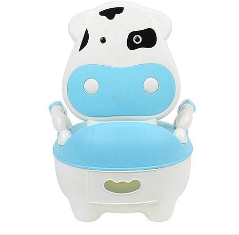 Bearhouse Orinal Bebe para Infantil Ni/ños Ni/ñas WC con Tapa Azul